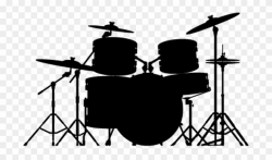 Permalink To Drums Clipart - Drums Clip Art Black And White ...