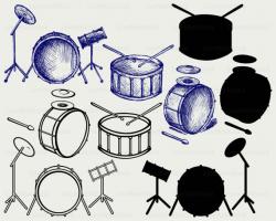 Drums svg/drums clipart/drums svg/drums silhouette/drums cricut cut ...