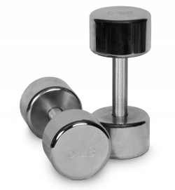 Dumbbells Silver transparent PNG - StickPNG
