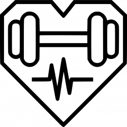Health Heart Dumbbell Fitness Exercise Svg Png Icon Free Download ...