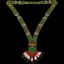Handmade Native American Bead Necklace - Beadwork Jewelry with Eagle ...