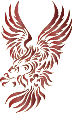 Clipart - Chromatic Tribal Eagle 2 10 No Background