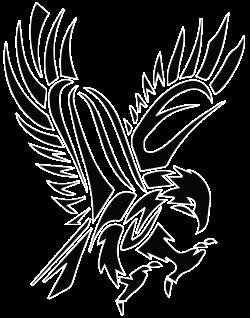 Black Tribal Flying Hawk Tattoo Stencil … | Tattoo s…