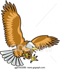 EPS Vector - Eagle mascot with wings spread. Stock Clipart ...