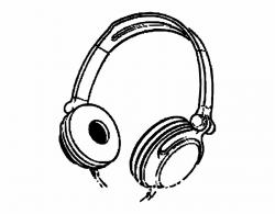 Music Cartoon Headphones Headphone Ears - Headphones Clipart ...