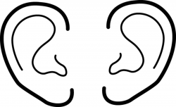 Cool Of Ear Clipart Black And White - Letter Master
