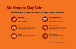 How to Prepare for an Earthquake | California Academy of ...