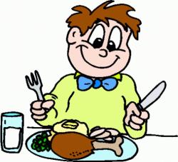 Eating Dinner Clipart