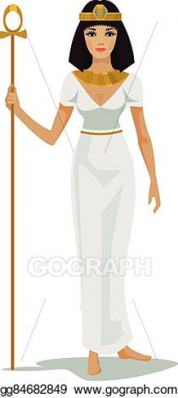 Clip Art Vector - Egypt queen cleopatra. Stock EPS ...