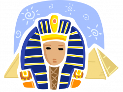 Pyramid and Great Sphinx of Giza, Egypt - Vector Image