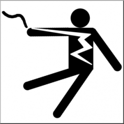 Clip Art: Electricity: Electrical Hazard Symbol 1 B&W I ...