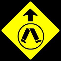 Clipart - caution-pedestrian crossing