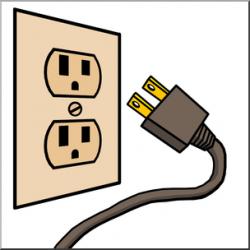 Clip Art: Electricity: Outlet & Plug Color I abcteach.com | abcteach