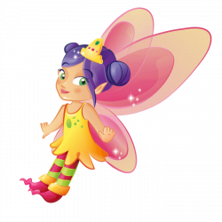 Fairies and Elves Wallstickers for Kids Rooms, Pink Fairy Sticker