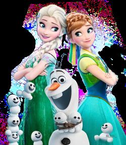 Frozen Olaf Elsa PNG Clipart