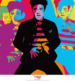 Details about POP ART PRINT - Suspicious Minds by Lobo - ELVIS PRESLEY  Modern Poster 24x26