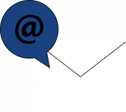 Email Icon White W/ Blue Clip Art at Clker.com - vector clip art ...