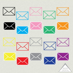 Envelope Clipart, Mail Clipart, email Clipart, colored ...