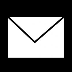 Clipart - Envelope Closed B&W