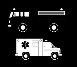 Clipart - Véhicules d'urgence noirs