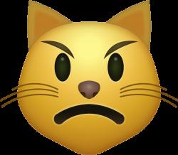 Download Angry Cat Iphone Emoji Icon in JPG and AI | Emoji Island