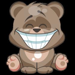 Cuddlebug Teddy Bear Emoji -Stickers by Sumair Jawaid