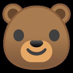 Bear face Icon | Noto Emoji Animals Nature Iconset | Google