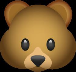 Download Bear Emoji Image in PNG | Emoji Island