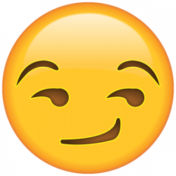 Smirk Face Emoji - When you're smirking with mischief, this sly ...
