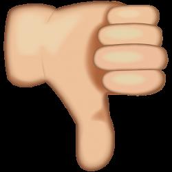 Download White Thumbs Down Sign Emoji Icon   Emoji Island