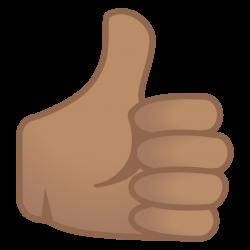 Thumbs up medium skin tone Icon   Noto Emoji People Bodyparts ...