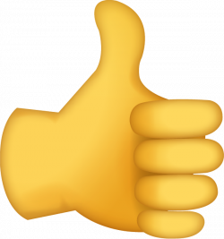 Download Thumbs Up Sign Iphone Emoji Icon in JPG and AI   Emoji Island