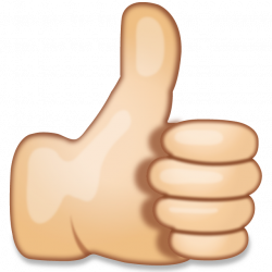 Download Thumbs Up Hand Sign Emoji   Emoji Island