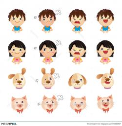 Four Emotions Illustration 25592937 - Megapixl