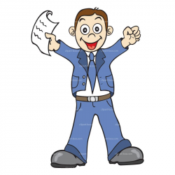 Cartoon Employee Clipart