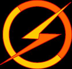Clipart - Bicolor Lightning Bolt