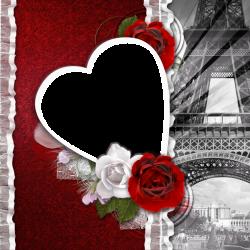 Transparent Romantic Frame Love in Paris | Cv | Pinterest | Clip art ...