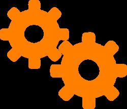 Gear - Orange Clip Art at Clker.com - vector clip art online ...