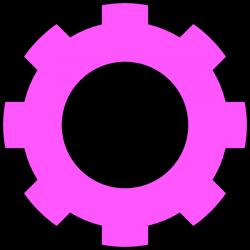 Pink Gear Clip Art at Clker.com - vector clip art online, royalty ...