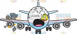 Startled Jumbo Jet Plane Panicking As Engine Catches Fire Emoji