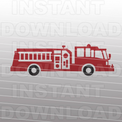 Fire Engine SVG File Cutting Template-Vector Clipart for Commercial &  Personal Use-Download-Cricut Machine,Silhouette Cameo,Explore,Vinyl