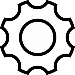 Ios Gear Outline Svg Png Icon Free Download (#411615 ...