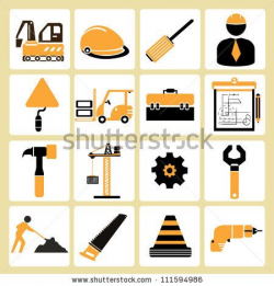 construct, structure, civil engineer, and tools icon set ...