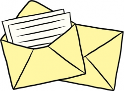 Letter And Envelope Clipart - Letters