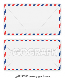 Vector Illustration - Front and back of envelope. EPS ...