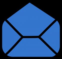 Blue Envelope Open Clip Art at Clker.com - vector clip art online ...