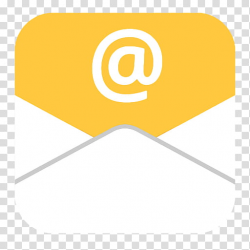 IOS style flat icons, Flat_Mail, yellow and white E-mail ...
