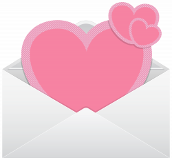 Envelope with Pink Hearts Transparent PNG Clip Art Image | Gallery ...