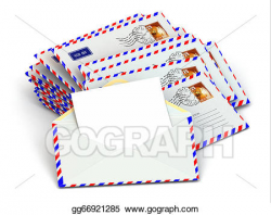 Stock Illustrations - Mail. stack of envelopes and empty ...