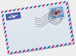 Paper Postage Stamps Airmail Envelope, Envelope transparent ...